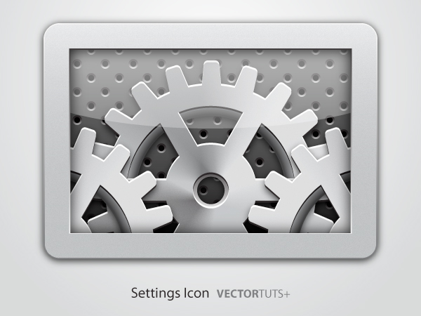 Metallic Gearbox Icon