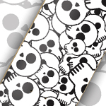 Skull Patterned Skate Deck